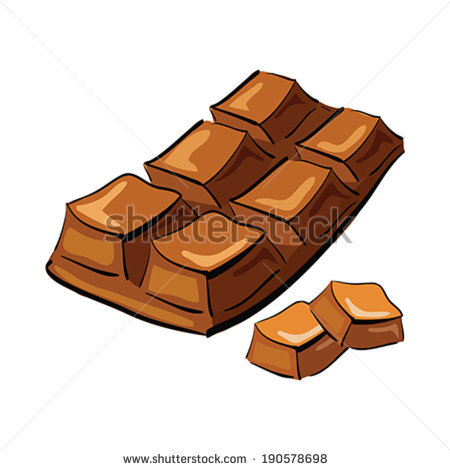 Drawn cartoon pencil and. Chocolate clipart drawing