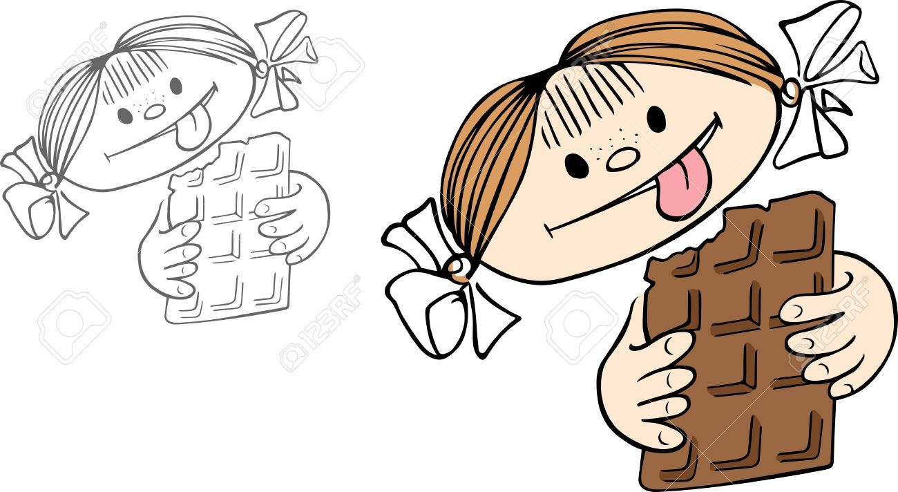 Eating clip art . Chocolate clipart drawing