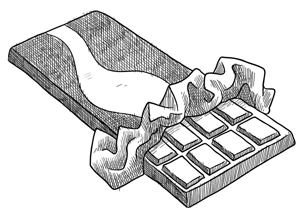 Chocolate clipart drawing.  collection of high