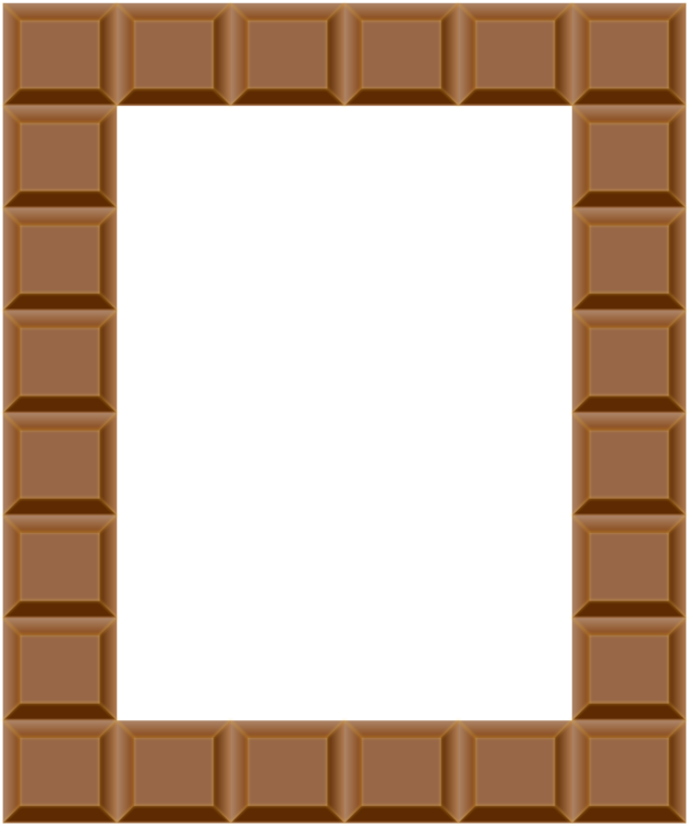 Picture square angle png. Clipart frame chocolate
