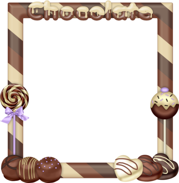 Clipart frame chocolate. Picture product