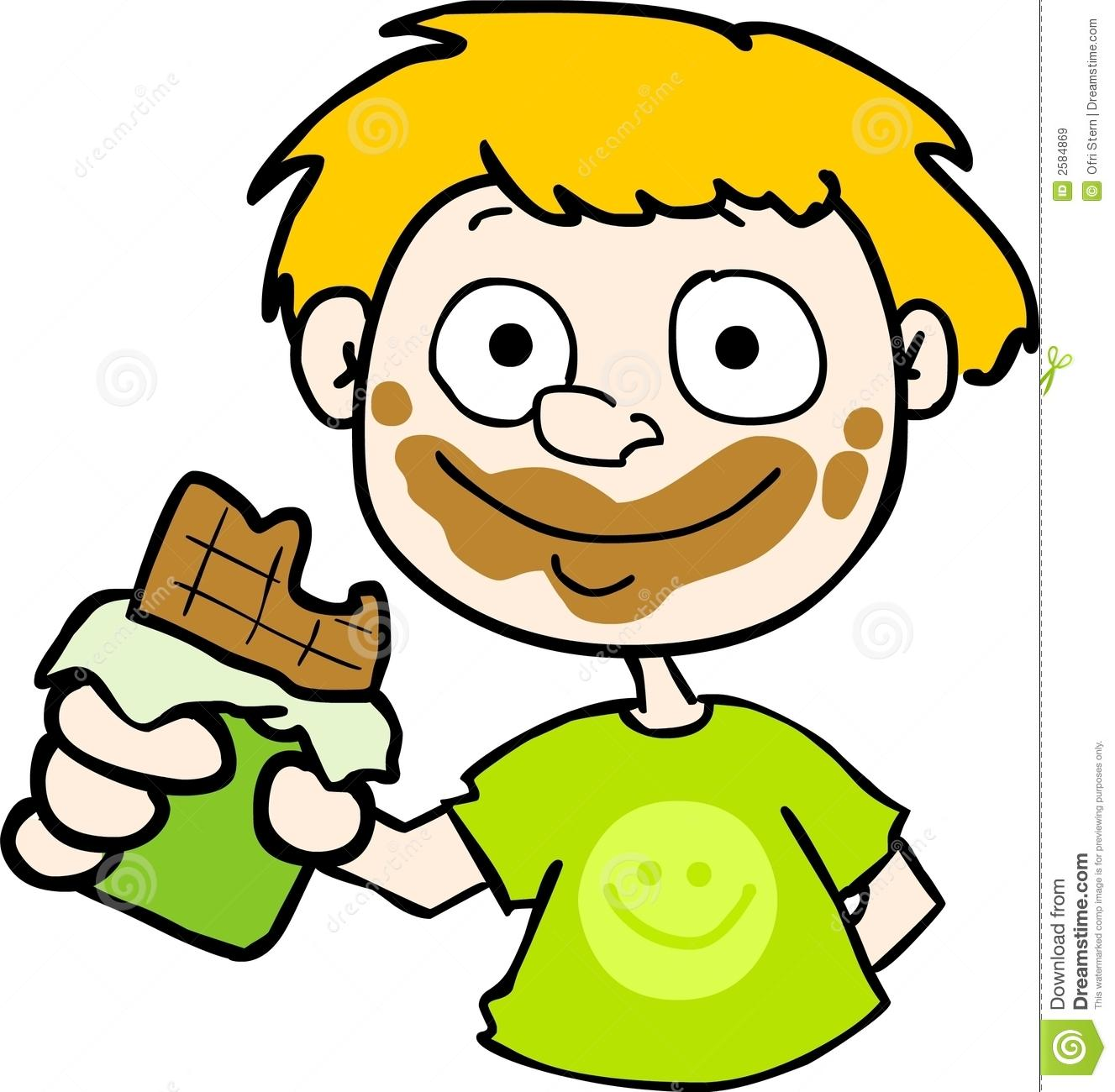 Child eating free download. Chocolate clipart kid