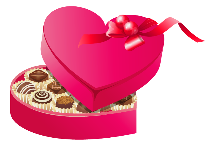 Clipart roses chocolate. Valentines chocolates png gallery