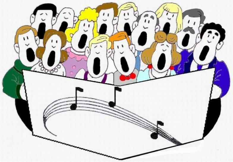 Church singing clip art. Chorus clipart high school choir