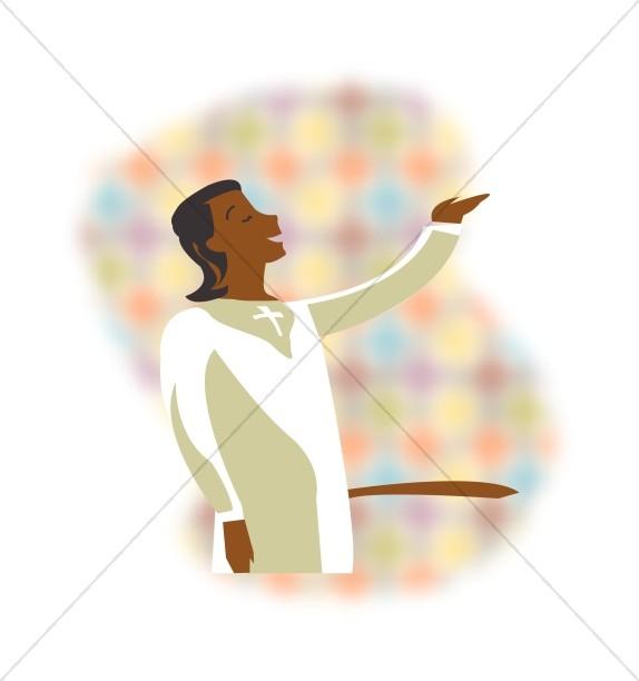 Singer church. Choir clipart african american