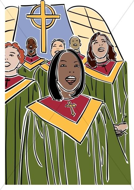 Choir clipart african american. Church clipartix