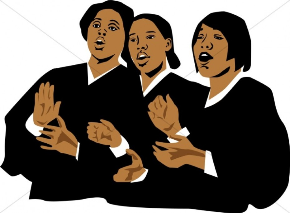 Free black cliparts download. Choir clipart african american