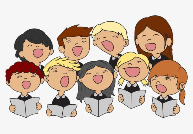 Illustration children s png. Choir clipart animated