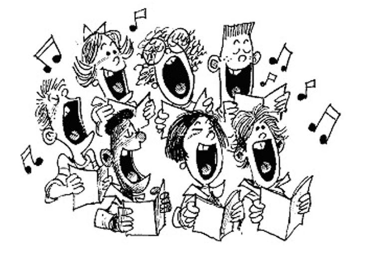 best church choir. Chorus clipart black and white