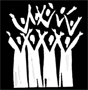 In clip art at. Choir clipart black and white