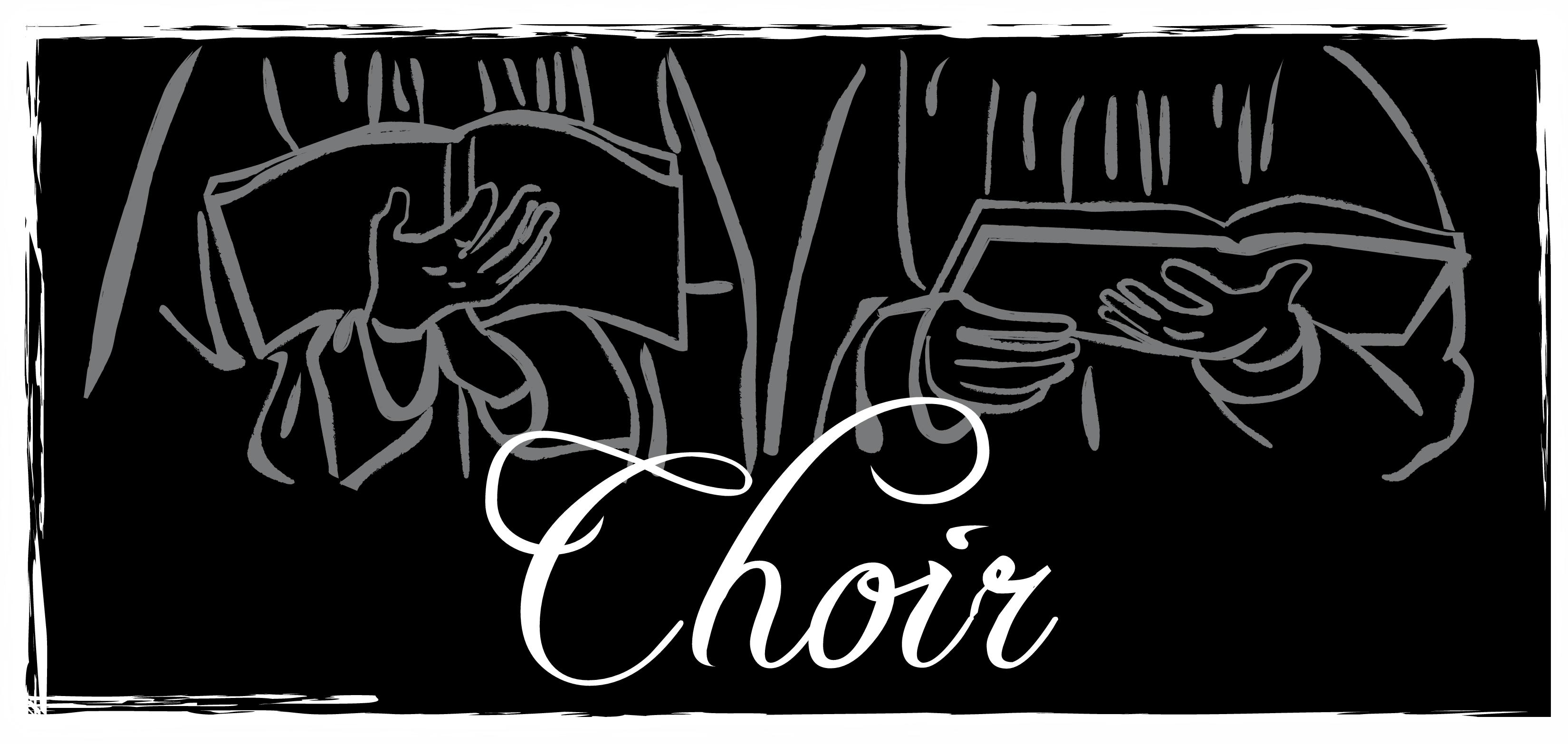 Chorus clipart black and white. Choir