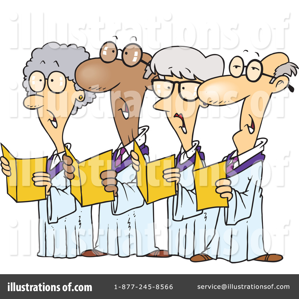 Illustration by toonaday royaltyfree. Choir clipart cartoon