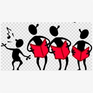 Free singing cliparts silhouettes. Chorus clipart choir singer