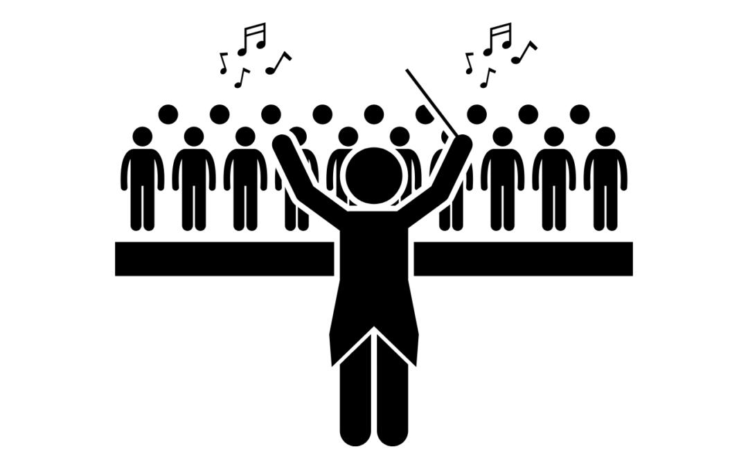 An engaged is a. Choir clipart chamber choir