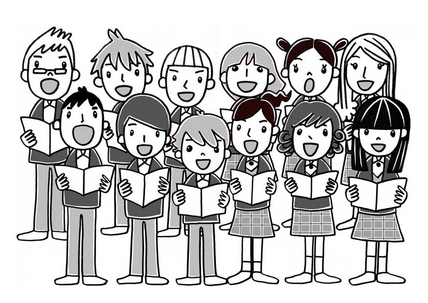 Choir clipart child choir. Coloring page img download