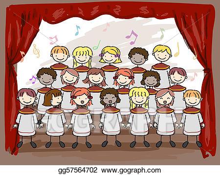 Choir clipart children's. Drawing children s gg