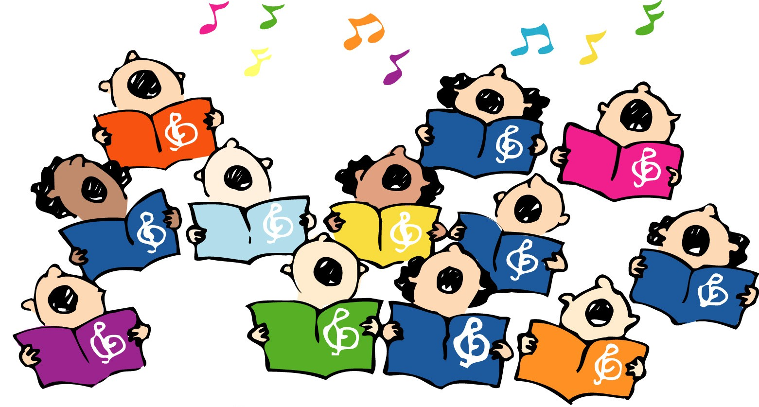 Children singing panda free. Singer clipart elementary chorus
