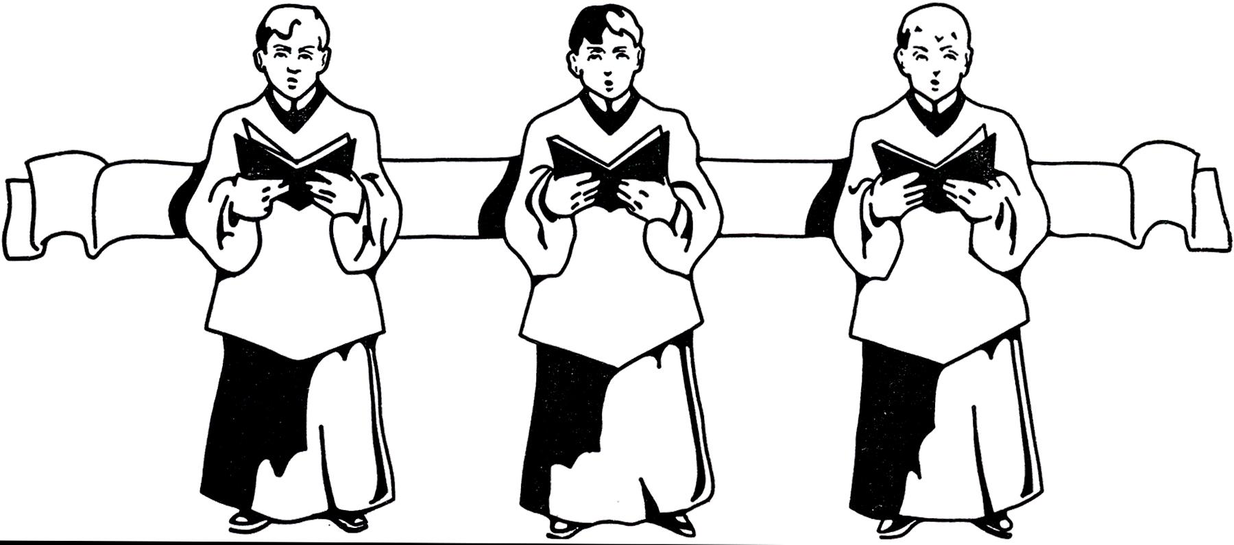 Boys clipart medieval. Vintage choir clip art