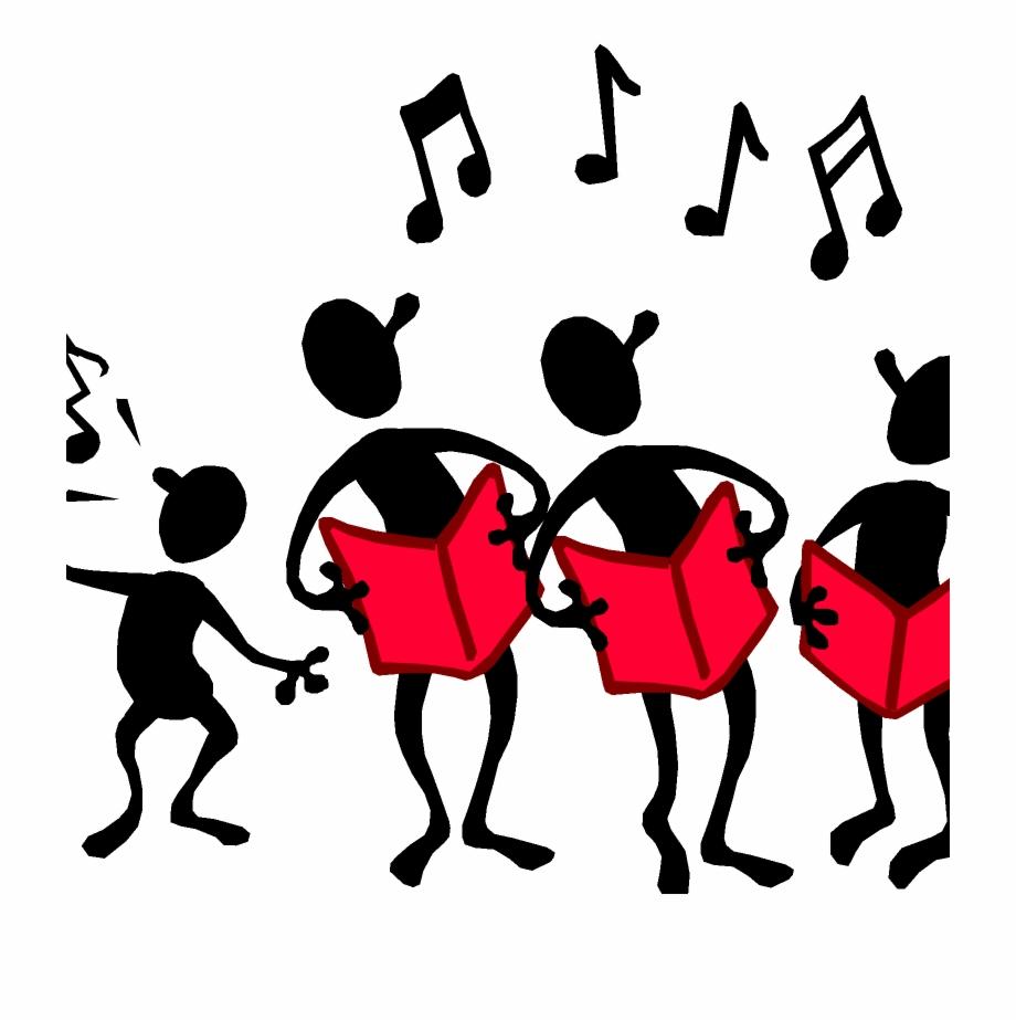 Singing choir . Chorus clipart transparent