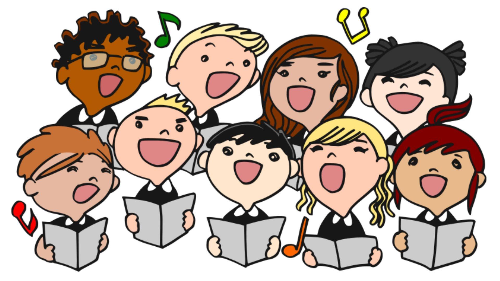 The benefits of singing. Chorus clipart child choir