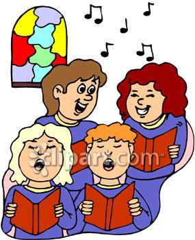 Church singing . Choir clipart choir singer