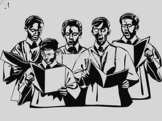 Singing . Choir clipart choir singer
