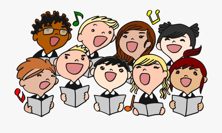 Chorus clipart vocal music. Singer song time sing