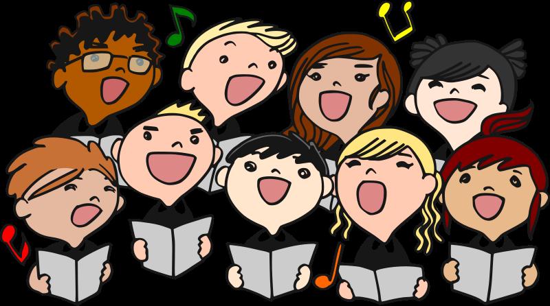 Choir singers . Kindergarten clipart performance