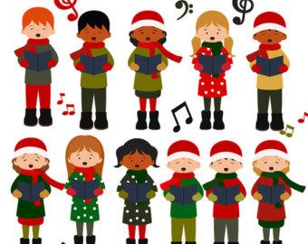 Chorus clipart carol service. Free christmas singers cliparts