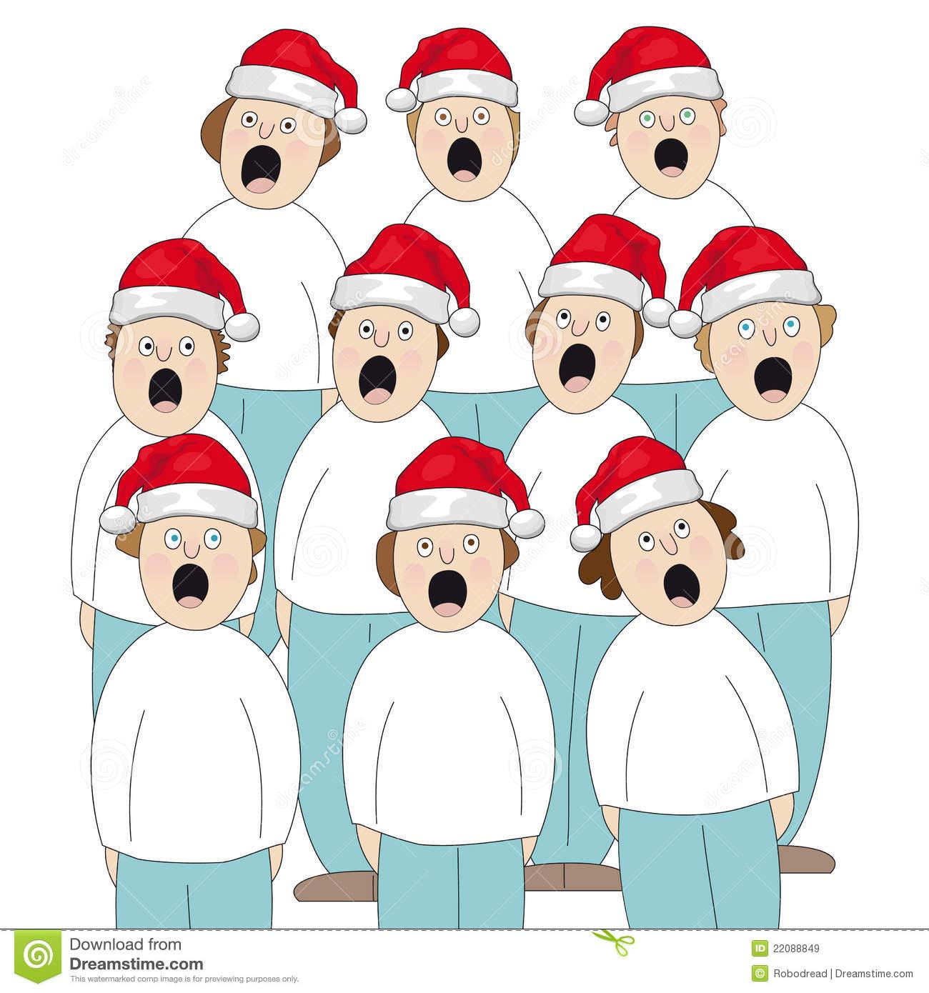 Choir clipart christmas.