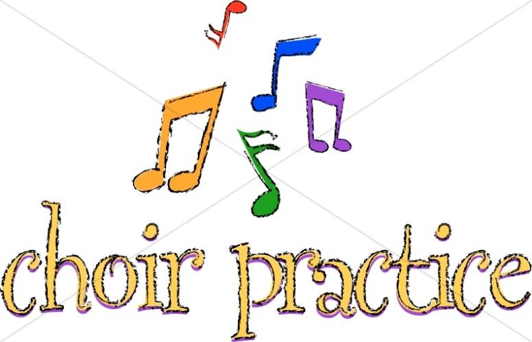 Choir clipart church choir. Practice with musical notes