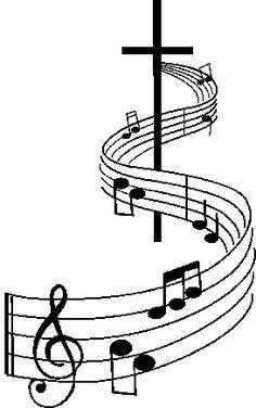 Christian music clip art. Choir clipart church choir