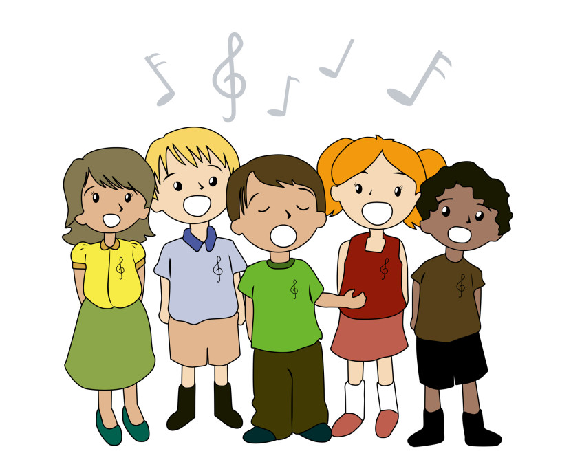 Singer clipart toddler. Choir rehearsal and performances