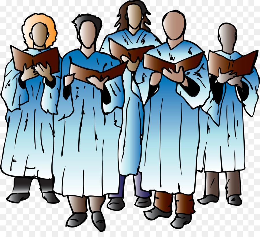 Choir clipart gospel choir. Mens chorus singing clip