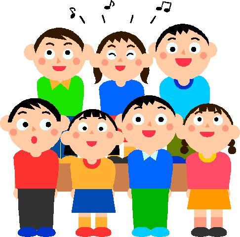 Classroom vocal music percussion. Chorus clipart child choir