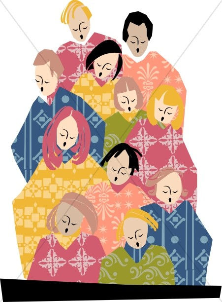 Choir clipart party. Multiple colored robes church