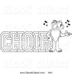 Music clip art m. Choir clipart party