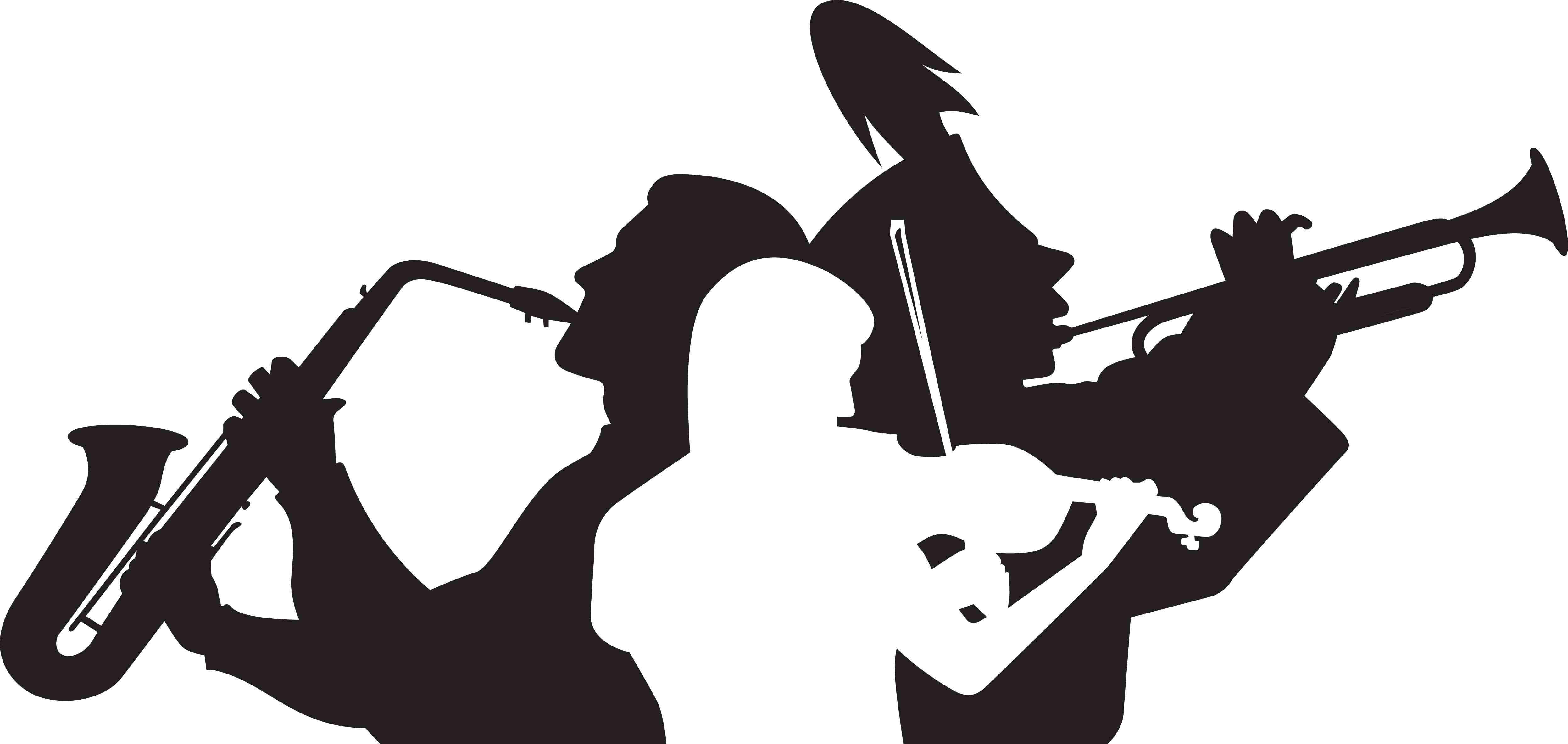 Image of choir clip. Band clipart silhouette