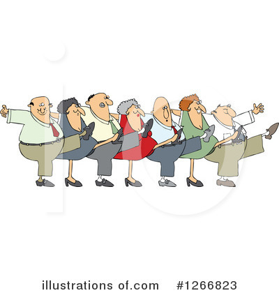 Choir clipart senior citizen. Chorus line illustration by
