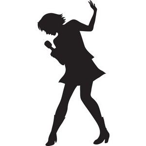 Person singing at getdrawings. Choir clipart silhouette