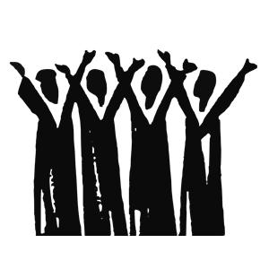 Choir clipart silhouette. Praise cliparts of free