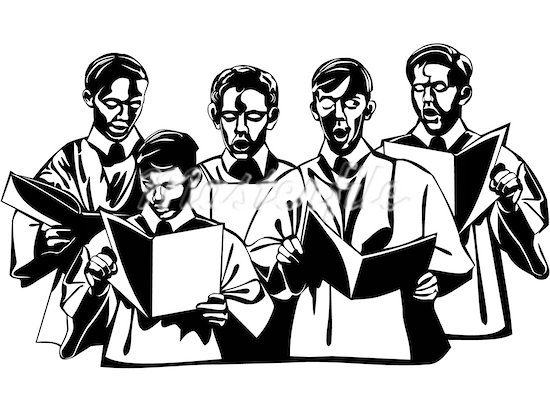 At getdrawings com free. Choir clipart silhouette