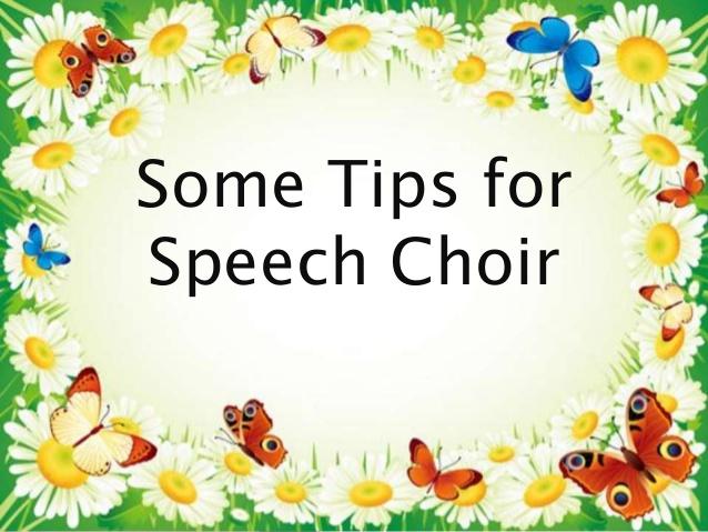 Choir clipart speech choir. Some tips for