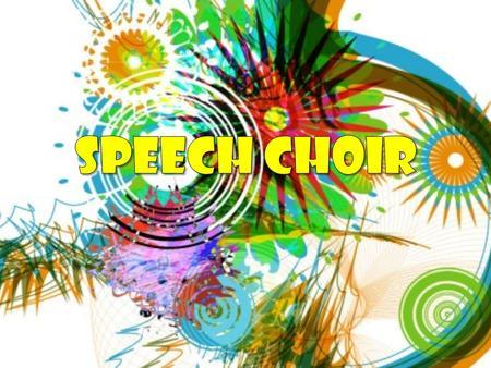 Choir clipart speech choir. Choral speaking prepared by