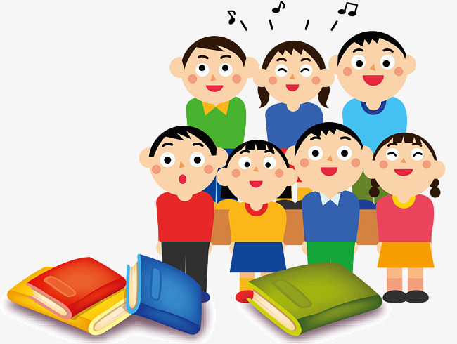 Cartoon book png image. Choir clipart student