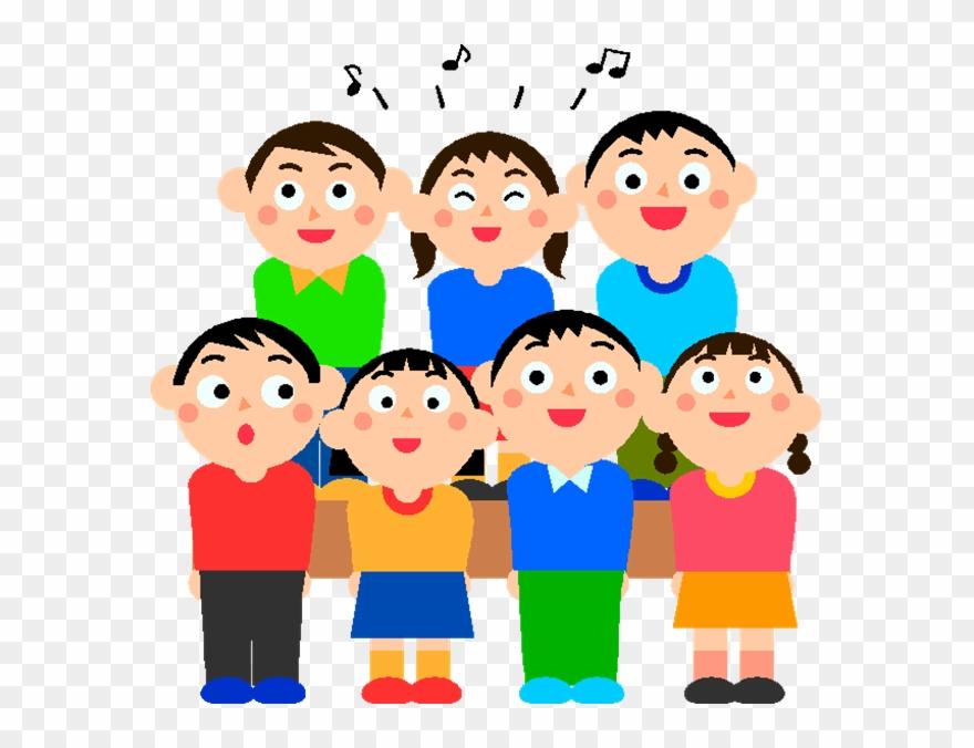 Singer school students singing. Choir clipart student