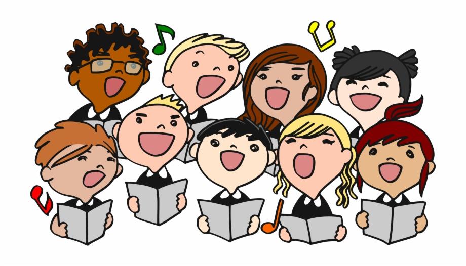 Christmas singing . Choir clipart transparent