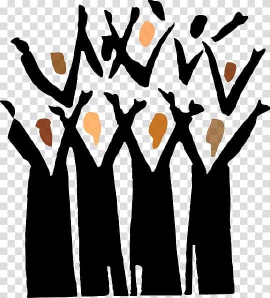 Gospel music singing traditional. Choir clipart transparent
