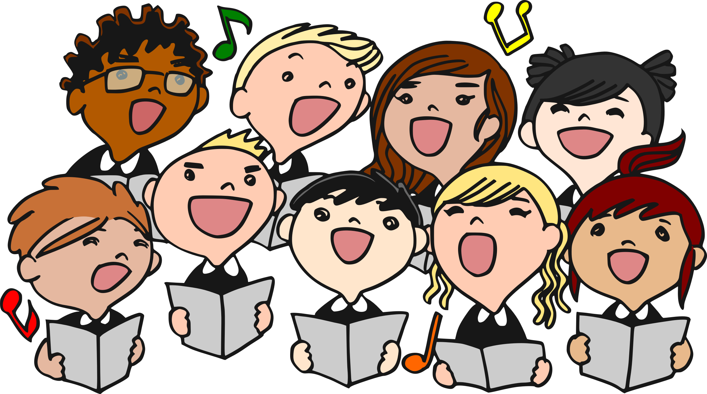 Children choral big image. Safe clipart kid