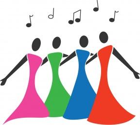 Free ladies cliparts download. Chorus clipart women's